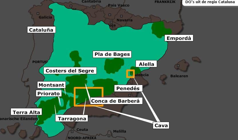 Wijngebieden in Catalunya