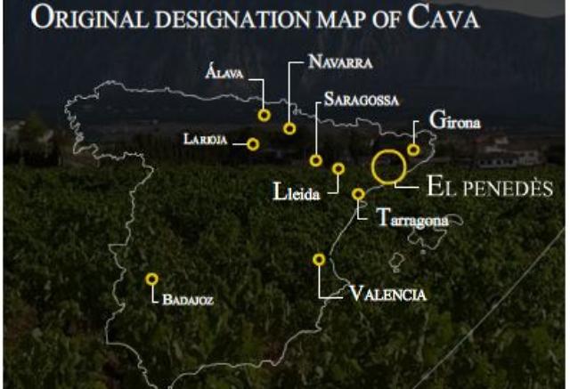 Cava wijngebieden